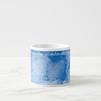 Nubes blancas mullidas; Personalizable Taza Espresso