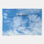 Nubes blancas mullidas; Personalizable Toallas
