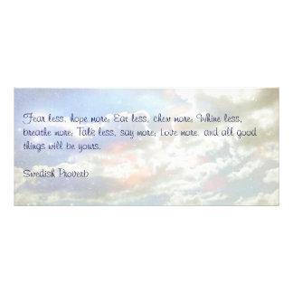 Nubes celestiales, tarjeta sueca del proverbio lona personalizada