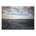 Nubes circulares sobre el Océano Atlántico Tarjeta De Felicitación