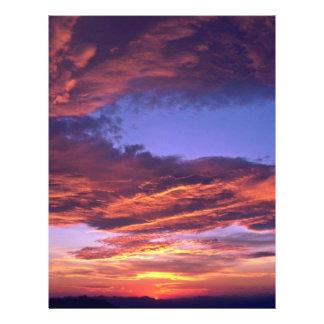 Nubes coloreadas flyer a todo color