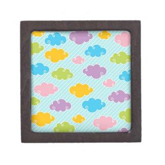 Nubes coloridas del color de la primavera cajas de recuerdo de calidad