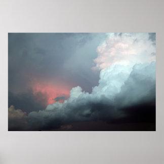 Nubes coloridas póster