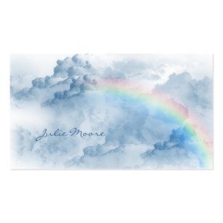 Nubes con la tarjeta de visita personal del arco i