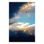 Nubes cremosas elegantes del cielo azul  papeleria