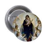 Nubes cristianas de la religión del bebé del madon pins