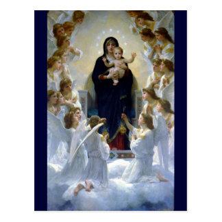 Nubes cristianas de la religión del bebé del madon postales