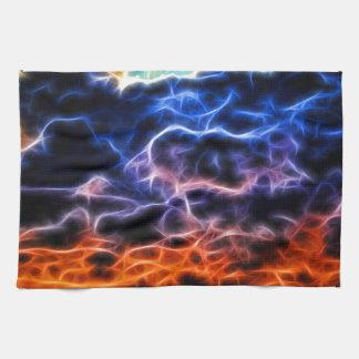 Nubes de cúmulo electrificadas bíblicas Skyscape Toalla