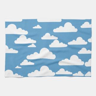 Nubes de cúmulo simples toalla de cocina