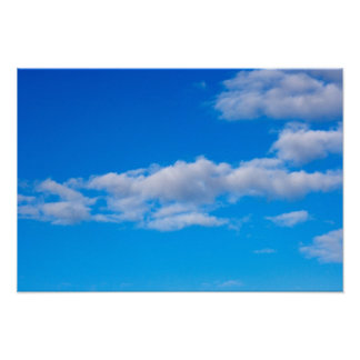 nubes de cúmulo sobre el antártico occidental posters