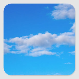 nubes de cúmulo sobre el antártico occidental colcomanias cuadradas personalizadas