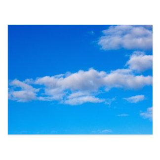 nubes de cúmulo sobre el antártico occidental tarjeta postal