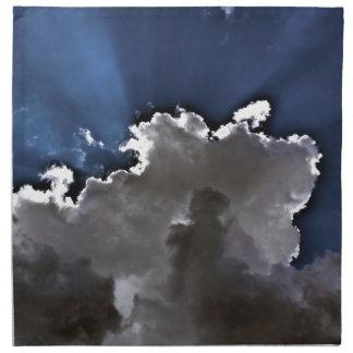 Nubes de HDR Servilletas Imprimidas