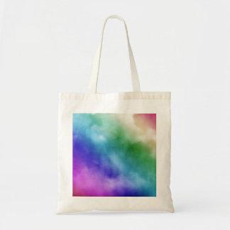 Nubes de la acuarela en tonalidades del arco iris bolsas de mano