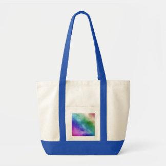 Nubes de la acuarela en tonalidades del arco iris bolsas
