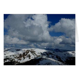 Nubes de la montaña de Colorado - tarjeta de nota