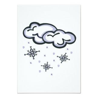 """Nubes de la nieve invitación 5"""" x 7"""""""
