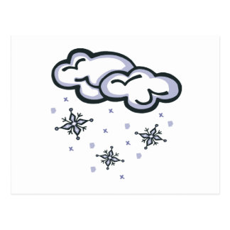 Nubes de la nieve tarjetas postales