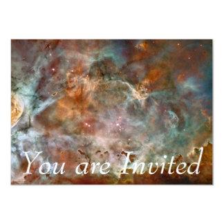 """Nubes de la oscuridad de la nebulosa de Carina Invitación 4.5"""" X 6.25"""""""