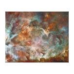 Nubes de la oscuridad de la nebulosa de Carina Impresión De Lienzo