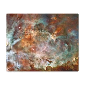Nubes de la oscuridad de la nebulosa de Carina Lona Envuelta Para Galerias