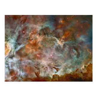 Nubes de la oscuridad de la nebulosa de Carina Postal