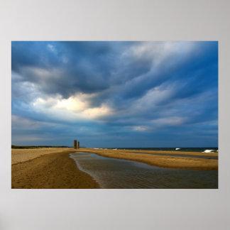 Nubes de la playa posters
