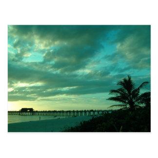 nubes de la playa postal
