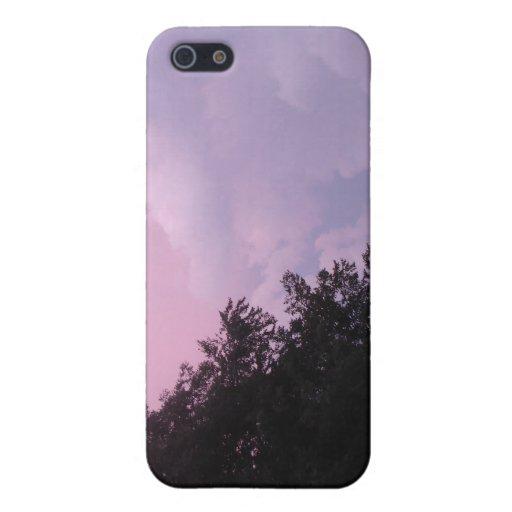 Nubes de la puesta del sol iPhone 5 cárcasas