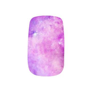 Nubes de la púrpura del rosa de la galaxia de las pegatinas para manicura
