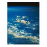 Nubes de la tempestad de truenos tarjeta postal