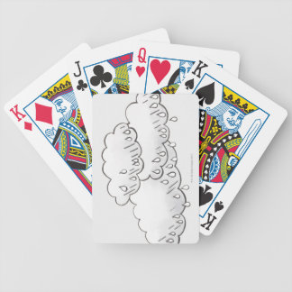 Nubes de lluvia barajas de cartas