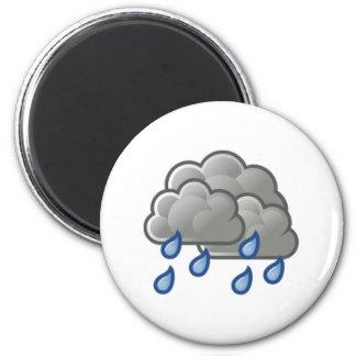 Nubes de lluvia imán redondo 5 cm