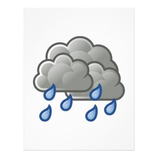 Nubes de lluvia membrete