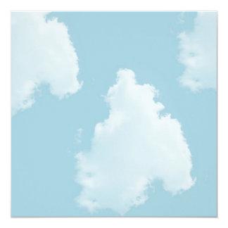 """Nubes de los cielos azules invitación 5.25"""" x 5.25"""""""