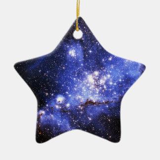 Nubes de Megellanic Adorno Navideño De Cerámica En Forma De Estrella