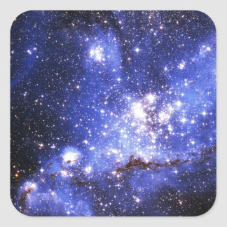 Nubes de Megellanic Pegatina Cuadrada