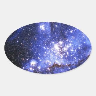 Nubes de Megellanic Pegatina Ovalada