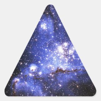 Nubes de Megellanic Pegatina Triangular
