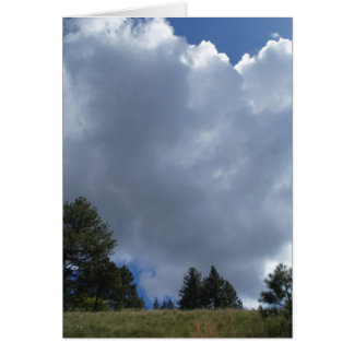 Nubes de Montana Tarjeta De Felicitación