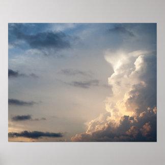 Nubes de tormenta del cielo del cielo de la nube póster