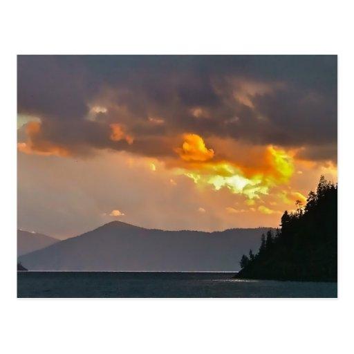 Nubes de tormenta del Pend Oreille del lago Postales
