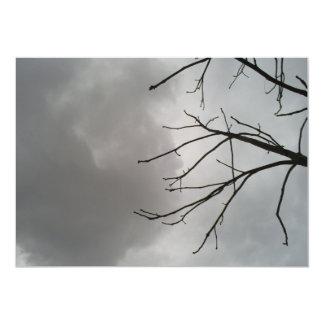 "Nubes de tormenta oscuras invitación 5"" x 7"""