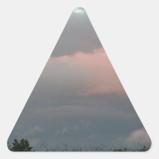 Nubes de tormenta colcomanias triangulo personalizadas