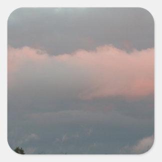 Nubes de tormenta pegatina cuadradas personalizada
