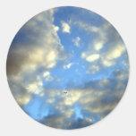 Nubes de tormenta pegatinas redondas