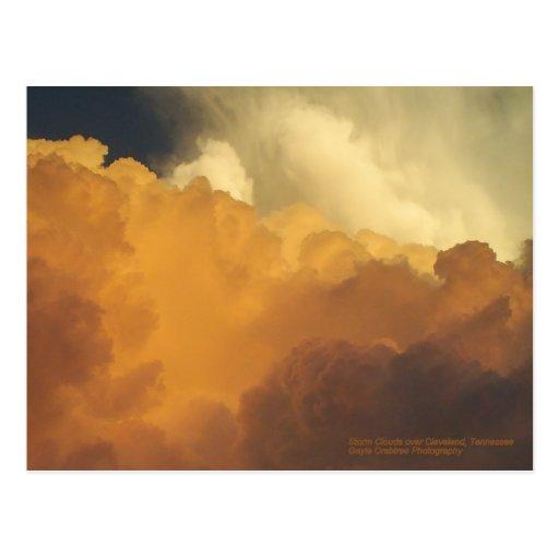 Nubes de tormenta sobre Cleveland, Tennessee Postal
