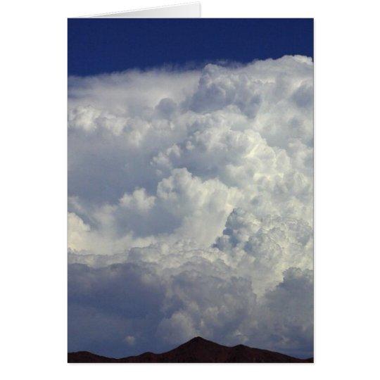 Nubes de tormenta tarjeta de felicitación
