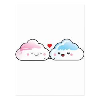 Nubes del amor de Kawaii Tarjetas Postales