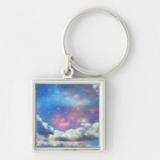 Nubes del espacio llaveros personalizados